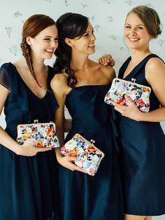 Brautjungfer Clutch, Tasche,,Geschenkidee von DavieandChiyo