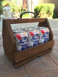 Wood six pack holder beer caddy beer tote for by standardwoodco #beerbottle