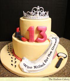 Amazing Photo of Birthday Cake Birthday Cake Birthday Murder Mystery Cake The Hudson Cakery Twin Birthday Cakes, Themed Birthday Cakes, Themed Cakes, Girls 13th Birthday Ideas, 13th Birthday Parties, 11th Birthday, Teen Birthday, Mystery Dinner Party, Mystery Parties