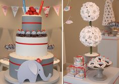 I Love everything about this Elephant themed party.