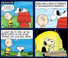 A job for #Snoopy. #Peanuts
