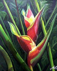 Heliconia Paintings - Heliconia  by Karin Kelshall- Best