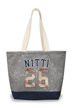 Design #2 - Same Quality as described in video below! Custom Personalized Baseball Tote Bag Manufactured in Virginia - Made in America - Printed in America - Shipped in America You are going to love y