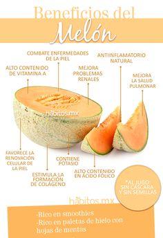 Beneficios del #melón. #nutrición #frutas