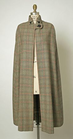 Beautiful lines !  Cape  Burberry  (British, founded 1856)  Date: ca. 1937 Culture: British Medium: wool