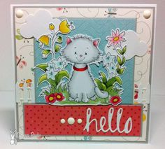 Hello Kitty - love the simple coloring of the cat.