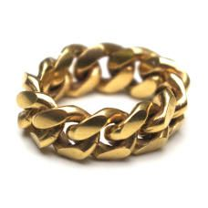 Heavy Gold Chain Ring
