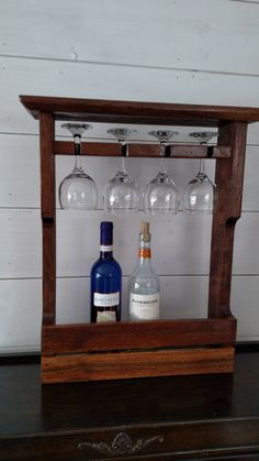 Check out this item in my Etsy shop https://www.etsy.com/listing/497460454/distressed-solid-walnut-wine-rack
