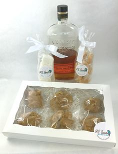 Whiskey Pecan Pralines, Gourmet Whiskey Marshmallows & Salted Whiskey Caramels Gift Set by PSSweet on Etsy