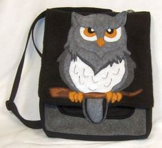 3D Owl Purse IPad Backpack Bag made out of Recycled Water Bottles. $45.00, via Etsy.