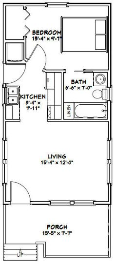 20x32 Tiny House -- #20X32H4D -- 640 sq ft - Excellent Floor Plans ...