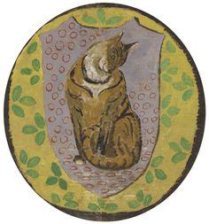Decorative cat design,  Vanessa Bell