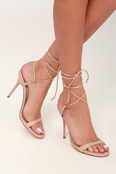 16ce72a49e8 7 Best Beige high heels images in 2017 | Over the knee boots ...