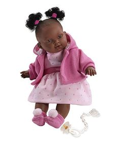 Llorens Crying Black Baby Girl Doll Adis with Pink Sweater 38608 Black Baby Girls, Black Babies, Pull Rose, Afro Puff, Christmas Deals, Baby Girl Dolls, Baby Alive, Pink Sweater, Barbie Dolls