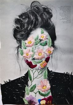 glamour:  For the love of floral. Embroidery by Jose Ignacio Romussi Murphy. -*Dressed