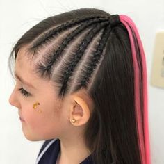 Sweet 16 Hairstyles, Cute Little Girl Hairstyles, Cool Braid Hairstyles, Cool Hair Designs, Cool Braids, Braids For Black Hair, Hair Photo, Braid Styles, Hair Hacks