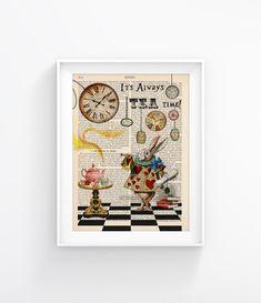 Alice In Wonderland Vintage Book print Decorative Art Book