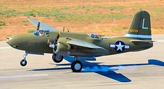 The newly restored Douglas A-20G Havoc that served with the 46th BG, on its first test flight.
