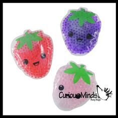 Ice Packs, Fruit Water, Water Beads, Busy Bags, Sensory Toys, Fidget Toys, Strawberry, Packing, Cold