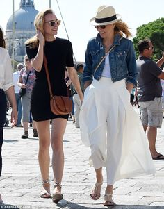 Earlier on: Diane joined fellow actress Elizabeth Banks for a walk, no doubt taking up the...