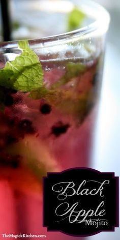 The Black Apple Mojito Recipe - The Black Apple Mojito Delicious and refreshing. The perfect drink for your Halloween celebration.