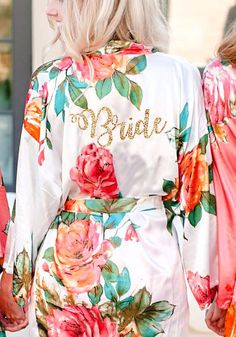 c1293ceef9 Bridesmaid Floral Robes  Personalized Robes  Bridal robes  Bridesmaid Gifts  From Bride