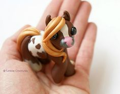 Mystery Pony Sculpture Cute Miniature Horse by TumbleCreatures
