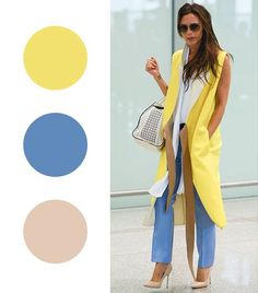 Victoria Beckham Get the Look: C'N'C' Costume National Blazer ($115) J. Crew CafeCapri($70) in Brilliant Blue Boutique 9 Justine Pointy Pump ($120)