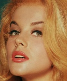 ann margret, rockin strawberry blonde with blonde highlights