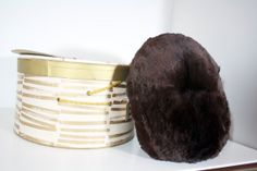 Antique or Vintage Mid Century Muff Handwarmer- Authentic Fur: Dark Brown Mink, Original Box by patchoulired on Etsy, $85.00  *Each purchase comes with a free sewn fabric tie bag handmade by yours truly ;D