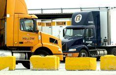 Yrc more yellow yrc freight roadway yrc semi trucks route 66 trucking