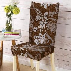 Chair cover Sunny style - Sunailoom Stretch Chair Covers, Spandex Chair Covers, Seat Covers For Chairs, Dining Chair Covers, Kitchen Table Chairs, Dining Chairs, Dining Furniture, Dining Room, Reupholster Furniture