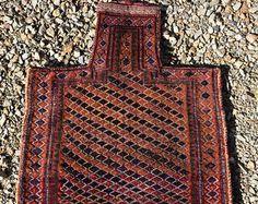 Tribal rug nomadic fine salt bag soumakilim namakdan khorjin saddlebag Persian…
