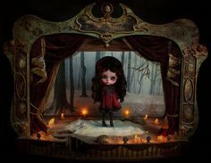 Gersendre in the Medianoche Theater by Rebeca Cano ~ Cookie dolls, via Flickr