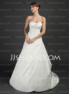 Wedding Dresses - $182.99 - A-Line/Princess Sweetheart Court Train Taffeta Wedding Dresses With Ruffle Beadwork (002015370) http://jjshouse.com/A-Line-Princess-Sweetheart-Court-Train-Taffeta-Wedding-Dresses-With-Ruffle-Beadwork-002015370-g15370