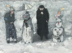 Winter Group 2011 Oil on board Christmas Exhibition 2011 - The Scottish Gallery, Edinburgh - Contemporary Art Since 1842