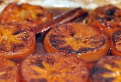 We have been experimenting with persimmon recipes after bringing home a bagful of Fuyus from the Joshua Tree farmers' market last weekend, and we're ready to declare these baked persimmons our favorite of the bunch.