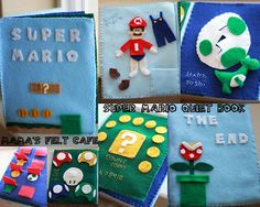 Mama's Felt Cafe - Super Mario Quiet Book. SERIOUSLY! How cool is this!