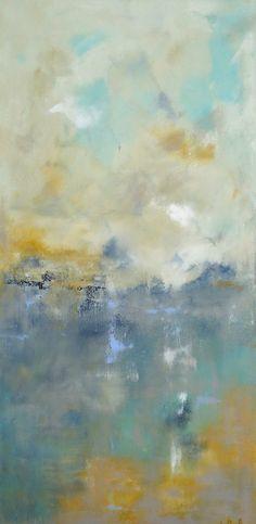 Original Painting Seascape Abstract Ocean Coastal by lindadonohue, $395.00
