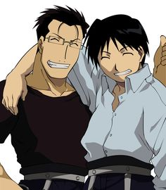 It's rare that I find someone who makes me want to become a better person. FMA gave me two. I won't say that Maes Hughes and Roy Mustang are flawless, but they are truly great men and their friendship is the most beautiful one I have ever seen. How Hughes will do anything for his friends and puts their safety and happiness far above his own. How Roy always stands for honor and justice, even if it makes him look bad to his peers. They are truly an inspiration and I love them both so much.
