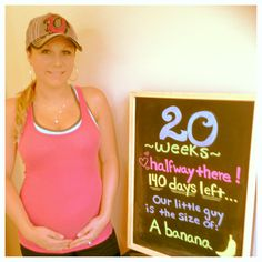 20 weeks baby bump board!  halfway done :)