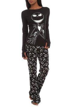 The Nightmare Before Christmas Jack Glow-In-The-Dark Jersey Pajama Set via s Wish