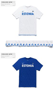 Estonia Olympic Uniform - Anton Repponen - Museum of Design Artifacts