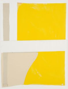 Visit us to license this and other works by Sandra Blow. © The Sandra Blow Estate Partnership. All Rights Reserved, DACS/Artimage Photo: Simon Cook St Ives Cornwall, Narcissus Flower, Abstract, Yellow, Minimal, Palette, Collage, Painting, Cook
