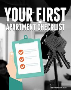 After you move into your first apartment, you probably don't have all the furniture and supplies you need. Instead of getting overwhelmed with everything you need to buy for your new apartment, we made a checklist of the essentials that you'll want to have in your apartment when you move in! renting a house #frugality #savingmoney