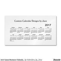 2017 linen pocket calendar by janz business card 2017 zazzle 2017 linen business calendar by janz magnet business card magnet reheart Image collections
