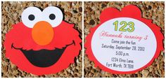Elmo Party Sesame Street Party Elmo Invitations Elmo by HelloFaith