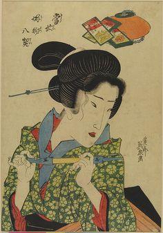 Eight Fashionable Pleasures Japanese Geisha, Vintage Japanese, Japanese Art, Japanese Kimono, Japanese Tattoo Art, Japanese Painting, Chef D Oeuvre, Japanese Prints, Woodblock Print