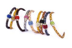 Leather bracelets with Rhinestones