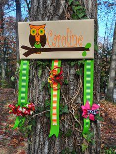 Owl Bow Hanger. $35.00, via Etsy.